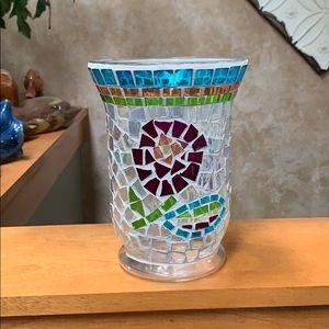 Longaberger Tile on Glass Vase